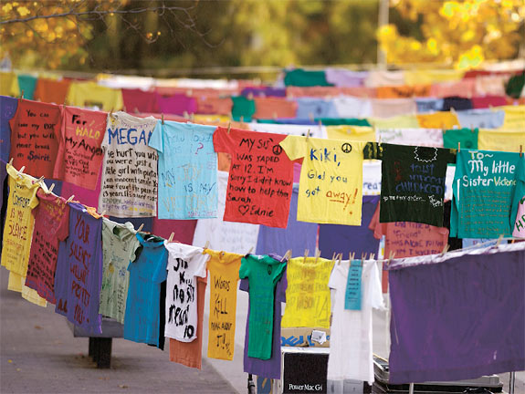 """the clothesline project Do not follow in those footsteps,"""" urged minnis, while opening the internationally recognized clothesline project held at the bahamas [] sunday, jul 8, 2018."""