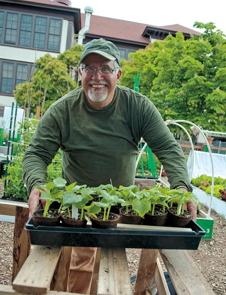 Master Gardener Mick Duggan Brings Plant Starts Into Seattleu0027s Beacon Hill  Demonstration Garden At El Centro De La Raza.