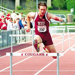Eric Dudley, defending Pac-10 intermediate hurdles champion and fifth-place NCAA finisher.