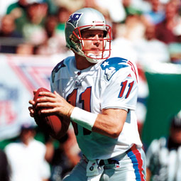 Drew Bledsoe. Photo courtesy of New England Patriots