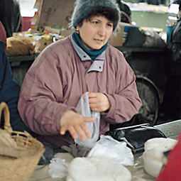 At the market in Pereyaslav. Tim Steury