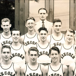 All-city High School track champions, 1940. Photo courtesy of Jane Nollan Morelock '51