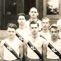 All-city High School track champions, 1942. Photo courtesy of Jane Nollan Morelock '51