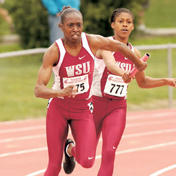 Ellannee Richardson  heads for home. WSU Sports Information