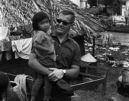 Tom Tiede in Vietnam. From the Tom Tiede collection in Special Collections at Boston University.