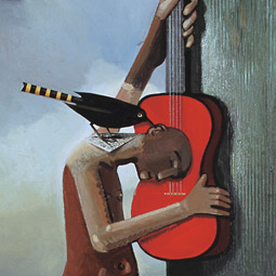 'The Music Bringer,' 2002, by David DeVillier. Courtesy of Linda Hodges Gallery, Seattle.