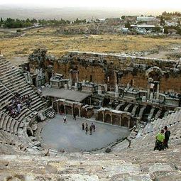 Income from visitors to Hieropolis's baths helped build its theater.