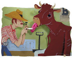 Mad cow illustration