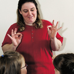 Nancy Kikendall wants to become a legal interpreter for the deaf.