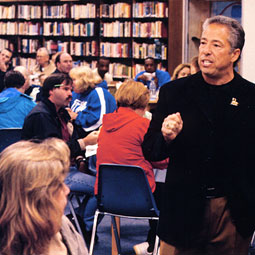 Ken Alhadeff speaks at a meeting of teachers in Federal Way, Washington.