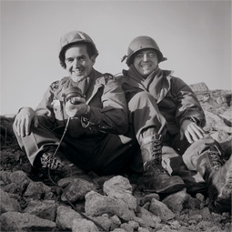With Larry LeSueur, one of the 'Murrow Boys,' in Korea, 1952.