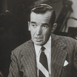 On the set of <em>See It Now,</em> 1952.