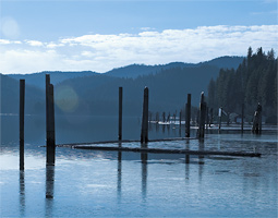 Lake Coeur d'Alene is the focus of research by WSU faculty members Brent Peyton and Rajesh Sani.