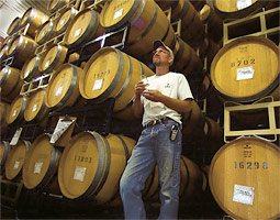 At Kiona Winery, Scott Williams '80 leans against his future.