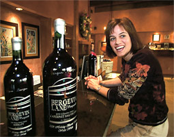 Annette Bergevin '86 created Bergevin Lane, one of the new wave of small wineries to hit Washington in the last four years.