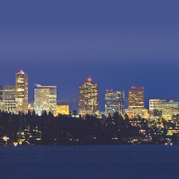 Bellevue skyline.