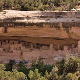 Cliff Palace at Mesa Verde National Park in Colorado.