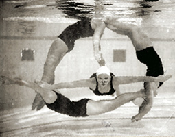 Members of the Fish Fans swim club, 1948.
