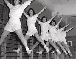 Group exercise for the Women's Service Corps ca. 1945.