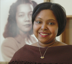 Dana Patterson ('06 Ph.D.) finds her new job as director of the Coretta Scott King Center at Antioch College 'a perfect fit for me in light of what I want to do.'