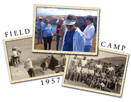 Archaeologist Richard Daugherty reminisces with field camps students about the summer of 1957.