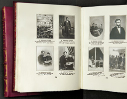 Each 28-volume set of Frederick Hill Meserve's <em>Historical Portraits</em> contains more than 8,000 Civil War-era photographs. Due to President Holland's determination, WSU owns one of only seven copies produced.