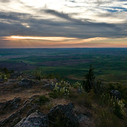 Sunset from Steptoe Butte. <em>John Austin/austinspace</em>