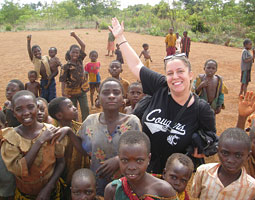 Nadia Daud '00 in Tanzania November 2007. She travels most of the year as a refugee officer for Homeland Security.