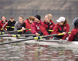 Our correspondent Jason Krump had two goals in training with women's crew: 1) to learn about the sport and 2) to no embarass himself. Not too much, anyway.