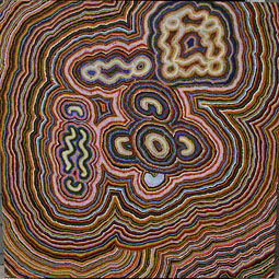 <em>Ngamaloo</em>, 2008, acrylic on linen by Elizabeth Gordon (Balgo Hills region). <em>Courtesy WSU Museum of Art</em>