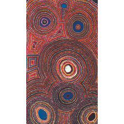 <em>Kapi Pati Yalli</em>, 2000, acrylic on linen by Simon Hogan (Spinifex country). <em>Courtesy WSU Museum of Art</em>