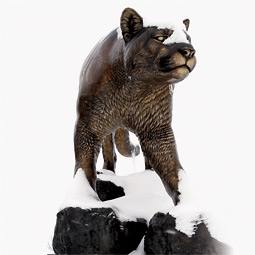 Cougar pride statue. Photo Larry Clark