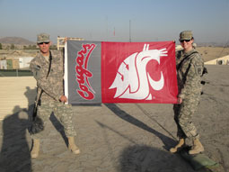1st Lt. Nicole Schmitz was in Army ROTC at WSU and graduated in 2008. She is currently deployed at the front at Camp Salerno in Afghanistan.