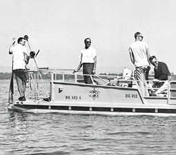 WSU's first effort to study the lake, back in 1967, was led by William Funk. Courtesy Quest Magazine.