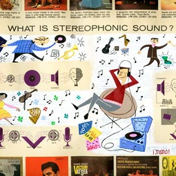 What is Stereophonic Sound?, 2006, gouche on vintage record sleeve