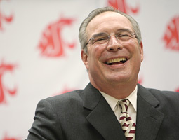 Moos at the announcement of his hire as WSU's athletic director. Tyler Tjomsland