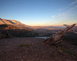 A new day dawns on Mount St. Helens. Bill Wagner