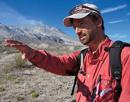 Biologist John Bishop is seeing new patterns in how life returns to the mountain. Bill Wagner