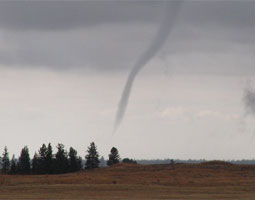 A tornado near Lake Roosevelt in the spring of 2003. <em>National Weather Service/NOAA</em>