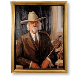 This portrait of Felix Warren, one of last of the Oregon Trail stagecoach drivers, is among more than 50 that Worth D. Griffin painted of Washington pioneers. <em>Courtesy WSU Museum of Art</em>