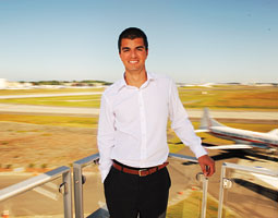 Engineering student Ben Hazari landed an internship at Boeing last summer. <em>Robert Hubner</em>