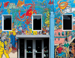 Mural by Pat Siler '61. <em>Zach Mazur/WSU Museum Of Art</em>