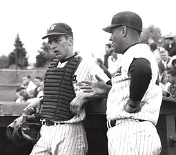Catcher and team captain John Everett Olerud &rsquo;65 with Coach Bobo Brayton, 1965. <em>Courtesy WSU Manuscripts, Archives, and Special Collections</em>
