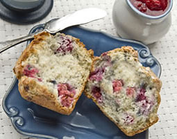 Raspberry Yogurt Muffins. <em>Courtesy Washington Red Raspberry Commission</em>