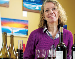 Cheryl Barber Jones &rsquo;76 has turned her talent for blending wine toward feeding the poor. <em>Matt Hagen</em>
