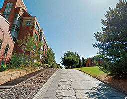 We mitigate difficulties. We provide them with an even playing field and hopefully remove barriers as much as we can. - Meredyth Goodwin. <em>College Avenue on Pullman Campus/Google Maps Street View</em>