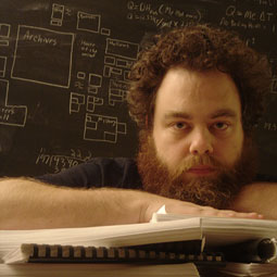 Patrick Rothfuss, '02, has written two bestselling fantasy novels. A third is pending. Courtesy Patrick Rothfuss