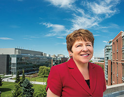 Chancellor Lisa Brown is guiding the transformation of WSU Spokane into a health sciences campus. <em>Photo Bruce Andre</em>