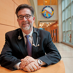 Ken Alexander &#8217;82 is chief of pediatric infectious diseases at the University of Chicago&#8217;s Comer Children&#8217;s Hospital. <em>Photo Zach Mazur</em>