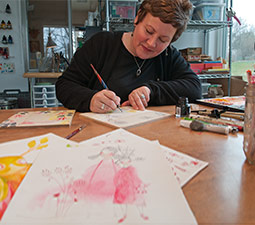Cori Dantini in her studio. <em>Photo Zach Mazur</em>